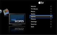 AppleTV sports scores
