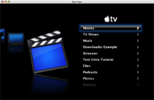 BackRow (Unofficial AppleTV app)