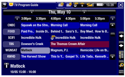 Archos DVR programme guide