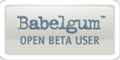 Babelgum Beta badge