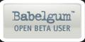 Babelgum Beta badge