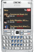 YouTube Mobile on a Nokia e61