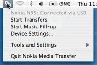Nokia Mac file browser