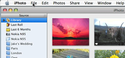 Nokia Media Transfer for Mac iPhoto