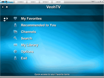 VeohTV application