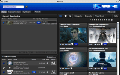 Vuze - iTunes store meets BitTorrent