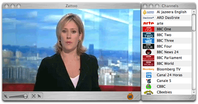 Zattoo - live TV on your PC