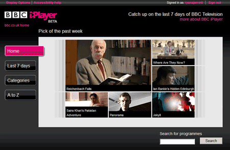 BBC iPlayer guide