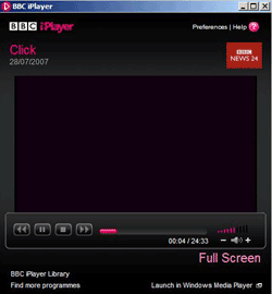 iPlayer windows media player