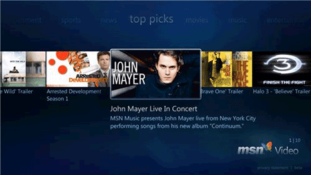 Microsoft announces Internet TV for Windows Media Center