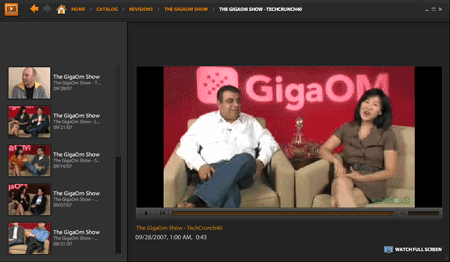 Adobe Media Player GigaOm show