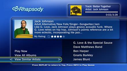 Rhapsody on TiVo