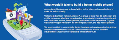 open handset alliance small