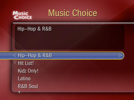 tivo music choice
