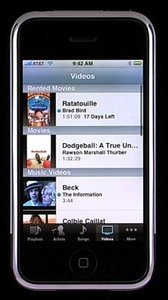 iphone movie rentals