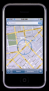 iPhone maps location