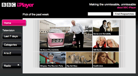 BBC iPlayer flash version