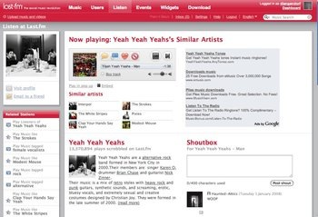 last fm screen