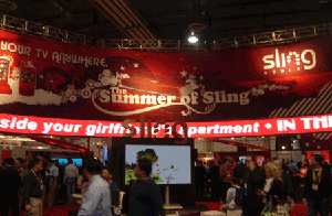Sling Media's stand at CES 2008