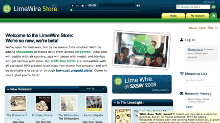 LimeWire Music Store