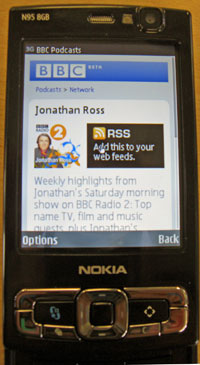 BBC podcasts target PSP and Nokia N95 users; iPlayer on iPhone boosts usage by 10%