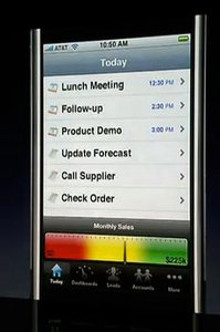 salesforce on iphone