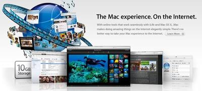 Dot Mac screen