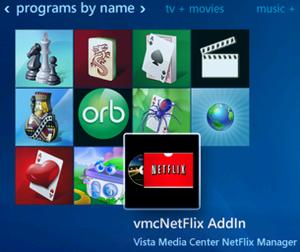 vmcNetflix installed