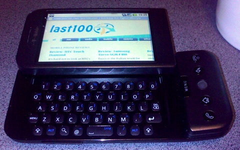 Androids web browser running on T-Mobile G1