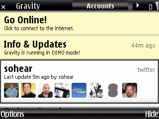 Gravity S60 Nokia screenshot 0004