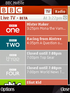 Live BBC TV on Nokia S60