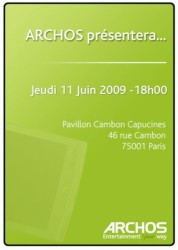 Archos press invite