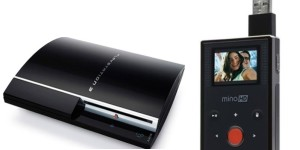 Sony PS3 and Flip Mino HD