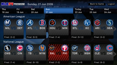 Major League Baseball on Boxee