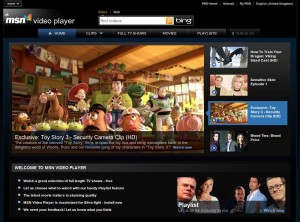 MSN Video Player Front Page
