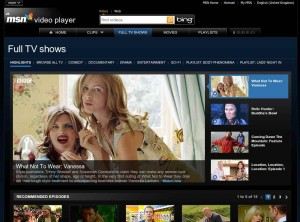 MSN Video Player TV Shows Page