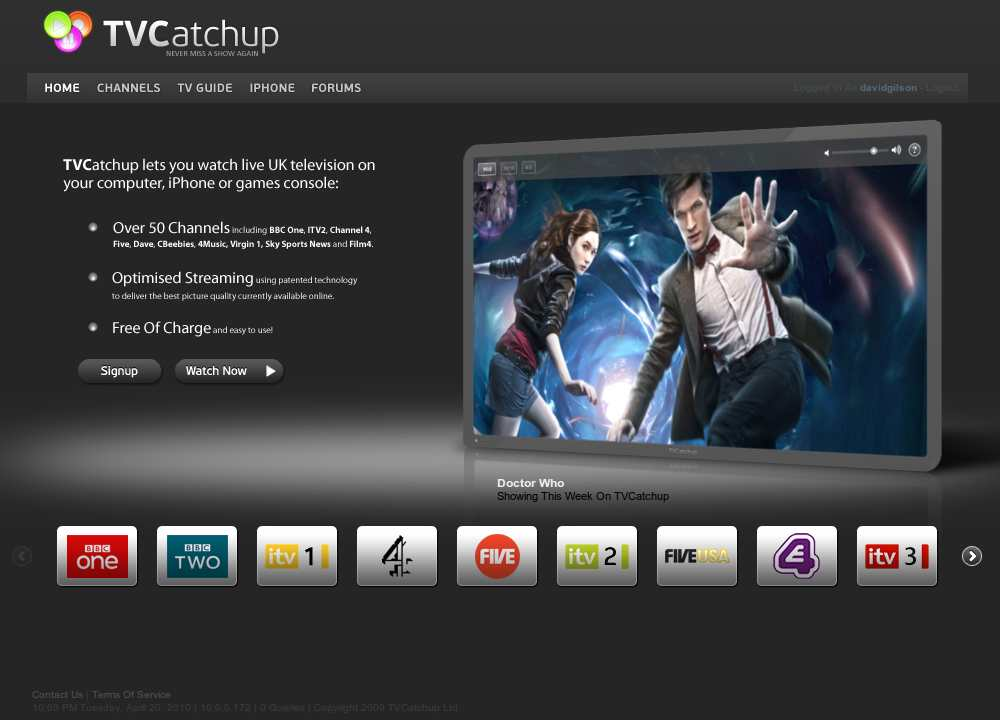 tvcatchup frontpage